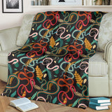 Colorful Snake Plant Pattern Premium Blanket