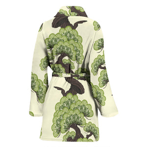 Bonsai Pattern Women'S Bathrobe
