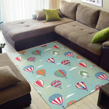Hot Air Balloon design Pattern Area Rug