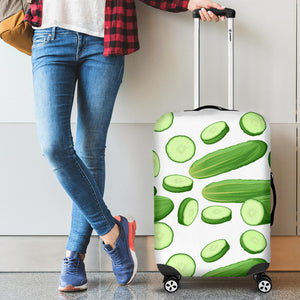 Cucumber Whole Slices Pattern Luggage Covers