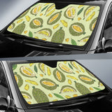 Durian Leaves Pattern Background Car Sun Shade