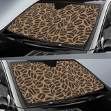 Coffee Bean On Brown Background Car Sun Shade