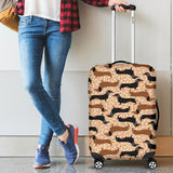 Dachshund floral background Luggage Covers