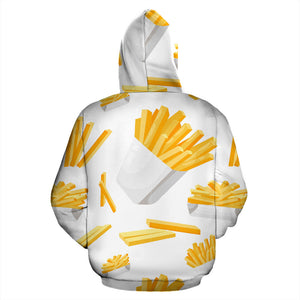 French Fries White Paper Box Pattern Men Women Pullover Hoodie