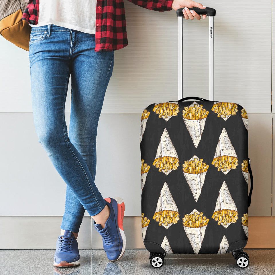 French fries dark background Luggage Covers
