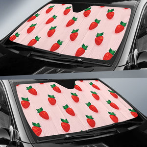 Strawberry Beautiful Pattern Car Sun Shade