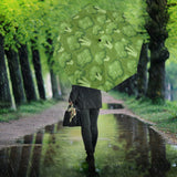 Broccoli Pattern Green Background Umbrella