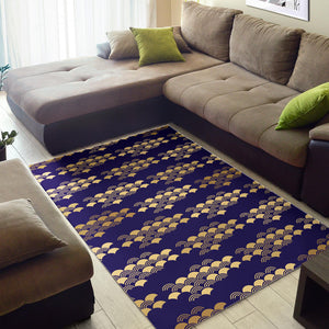 Beautiful japanese fan pattern Area Rug