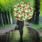 Red apples leaves pattern Umbrella