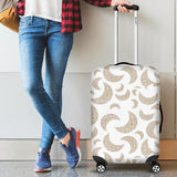 Cool Gold Moon Abstract Pattern Luggage Covers
