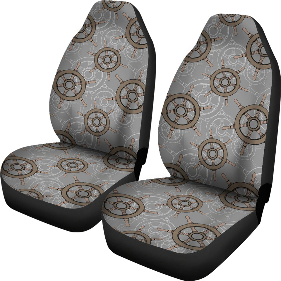 nautical wood steering wheel pattern Universal Fit Car Seat Covers