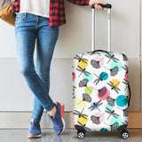 Dragonflies ginkgo leaves pattern Luggage Covers