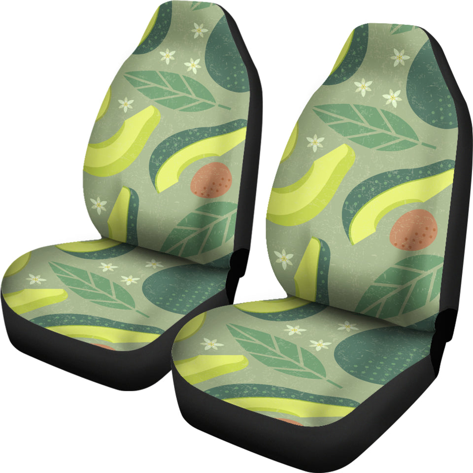 Avocado Pattern  Universal Fit Car Seat Covers