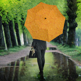Orange traditional indian element pattern Umbrella
