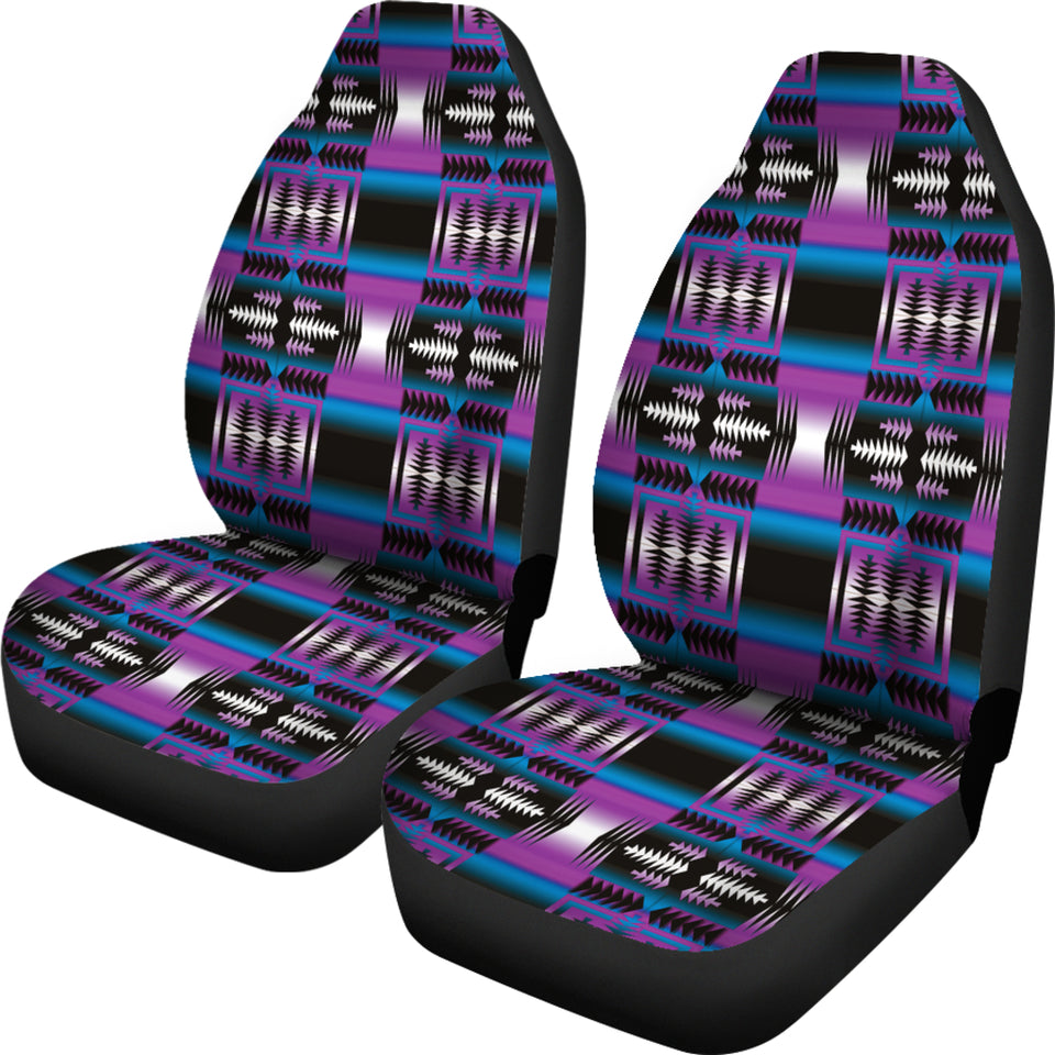 Strips Purple  Car Seat Covers