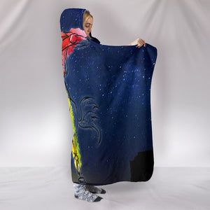 Night Horse Hooded Blanket