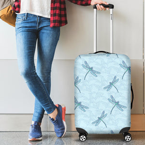 Dragonfly pattern blue background  Luggage Covers