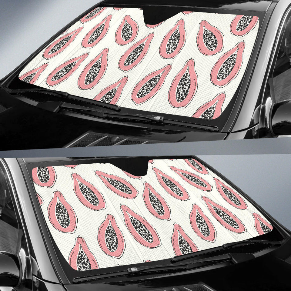 Papaya Pattern Car Sun Shade