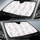 Cute Poodle Dog Star Pattern Car Sun Shade