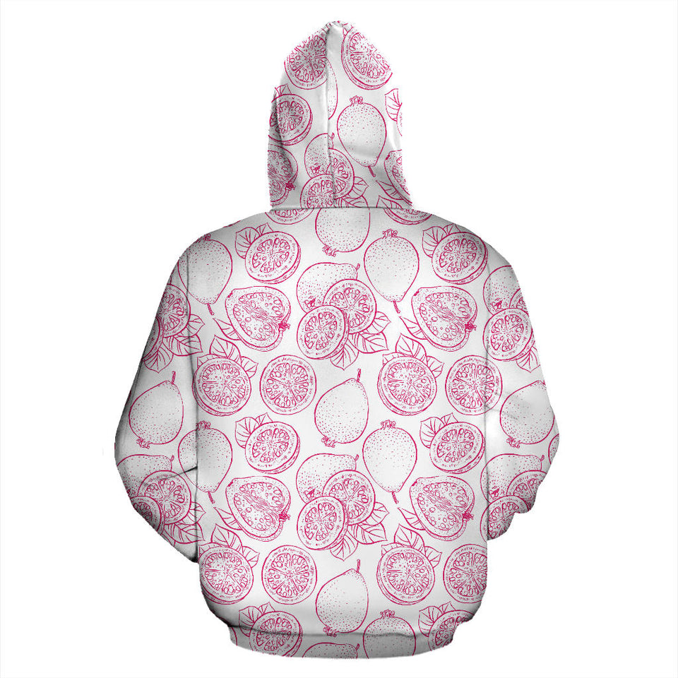 Sketch Guava Pattern Men Women Pullover Hoodie