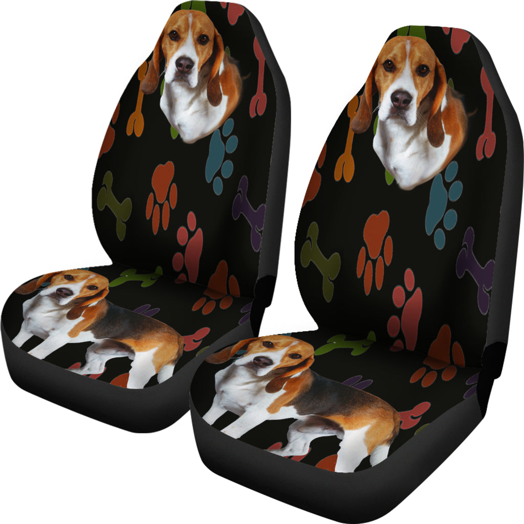 Beagle Black Car Seat Cover