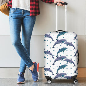 Dolphins pattern dotted background Luggage Covers