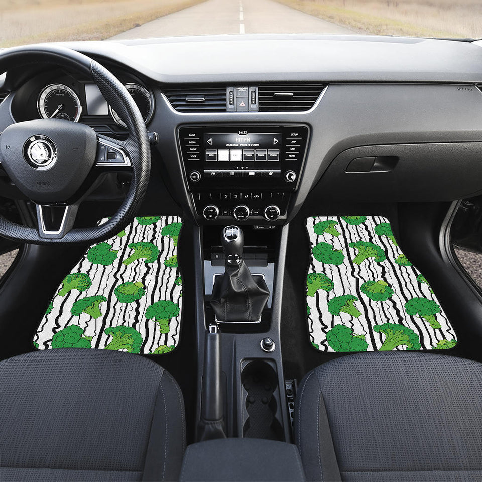 Cool Broccoli Pattern  Front Car Mats