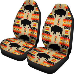 Seven Tribes Tan Buffalo Set of 2 Car Seat Covers
