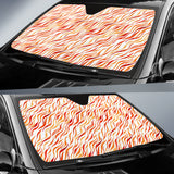 Fire Flame Watercolor Pattern Car Sun Shade