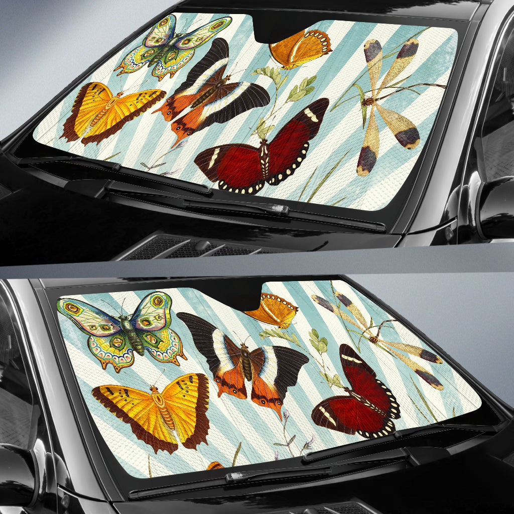 Butterfly Collage Car Sun Shade Auto Sun Shade