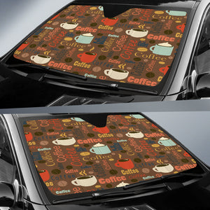 Coffee Car Sun Shade Auto Sun Shade