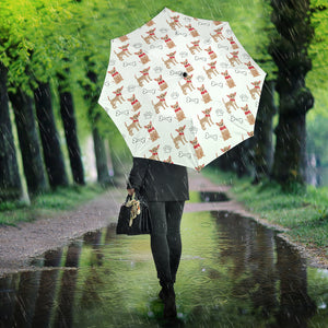 Chihuahua Bone Paw Pattern Umbrella
