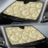 Garlic Design Pattern Car Sun Shade