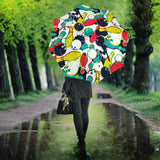 watercolor bowling ball pins Umbrella