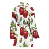 Red Apples Pattern Women'S Bathrobe