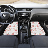 Daruma Japanese Wooden Doll Cherry Blossom Flower Pattern Front Car Mats