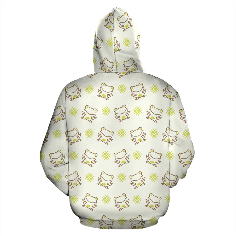 Cute Cartoon Frog Baby Pattern Men Women Pullover Hoodie