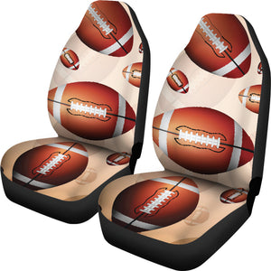 American Football Ball Design Pattern  Universal Fit Car Seat Covers