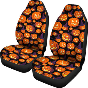 Halloween Pumpkin Pattern Universal Fit Car Seat Covers