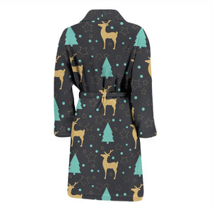 Deers Star Tree Pattern Men'S Bathrobe