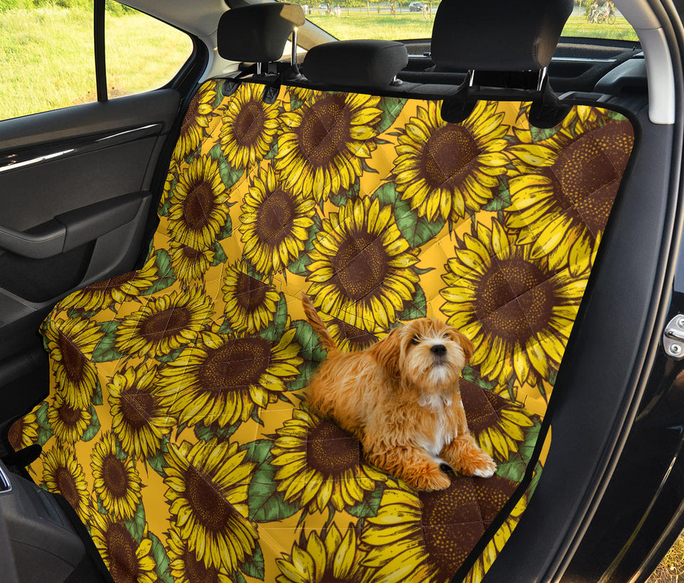 Fantastic Sunflower Pattern Dog Car Seat Covers Andrewgaddart Wooden Chair Designs For Living Room Andrewgaddartcom