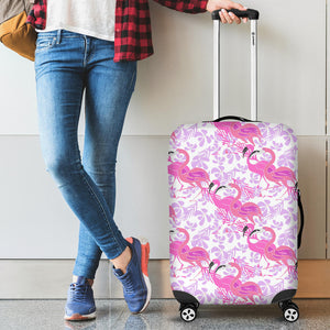 Pink Flamingo Flower Pattern Luggage Covers
