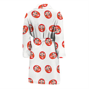 Daruma Japanese Wooden Doll Pattern Men'S Bathrobe