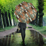 Wood Printed Pattern Print Design 02 Umbrella