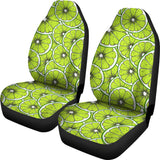 Slices of Lime design pattern Universal Fit Car Seat Covers