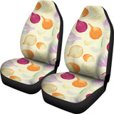 Onion garlic white red pattern Universal Fit Car Seat Covers