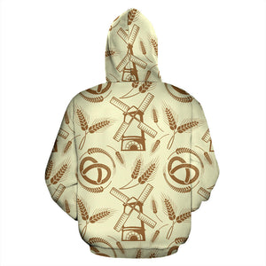 Windmill Wheat pattern Men Women Pullover Hoodie
