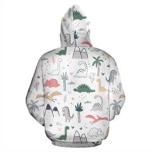 Cute Cartoon Dinosaurs Tree Pattern Men Women Pullover Hoodie