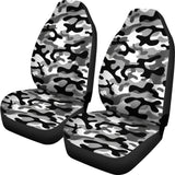 Black White Camo Camouflage Pattern Universal Fit Car Seat Covers