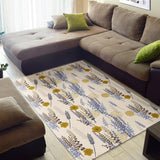 Lavender modern pattern blackground Area Rug